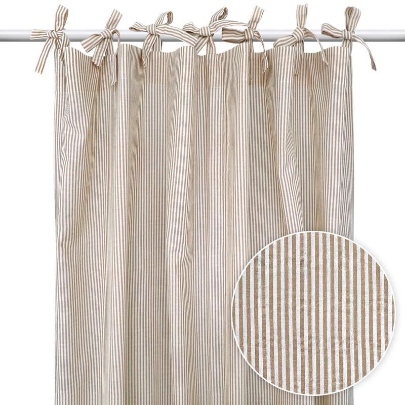 Curtain 'Stripes' Beige H 240cm