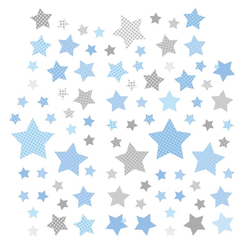 Wall Stickers 'Stars' Blue/Grey