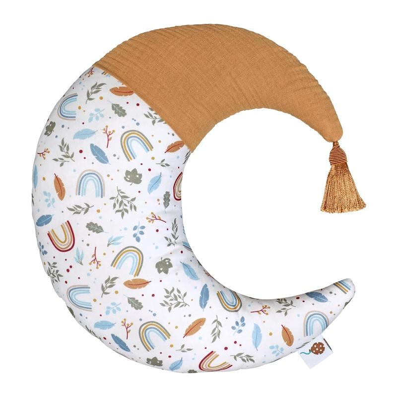 Cushion 'Rainbow Moon' Camel 40cm