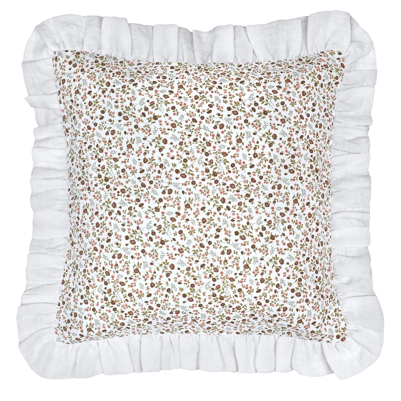 Pillowcase With Ruffles 'Buttercup' Dusty Rose