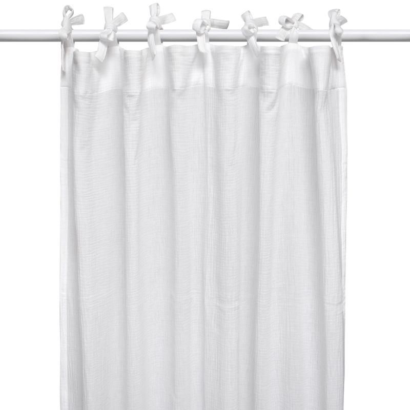 Curtain Muslin White H 240cm Handmade