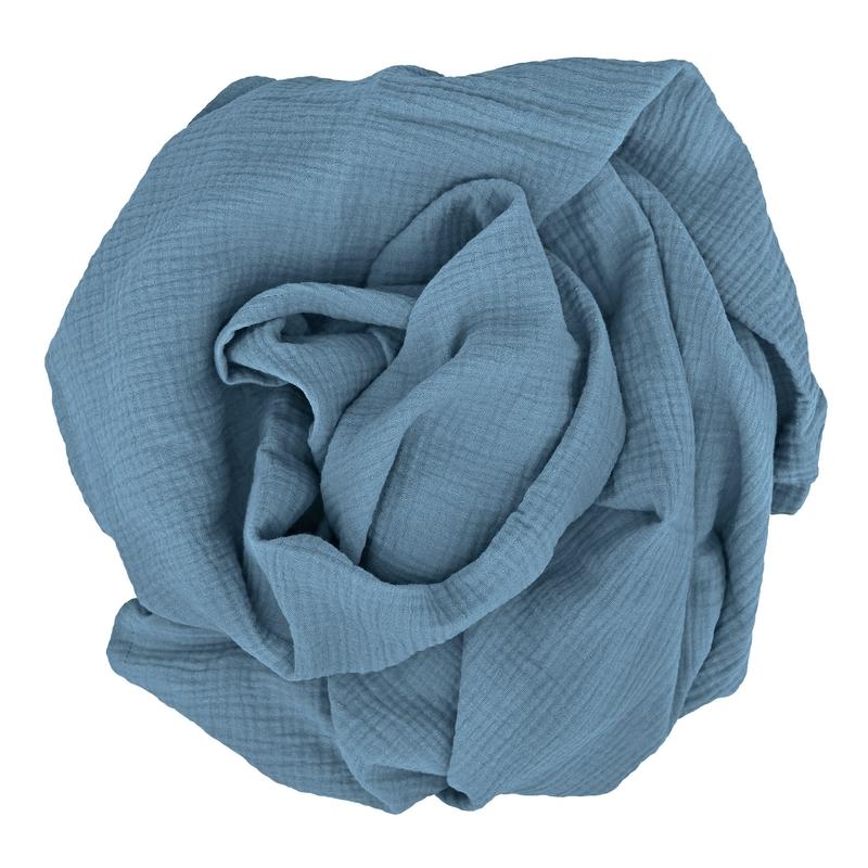 Swaddle Muslin Smokey Blue 120x120cm