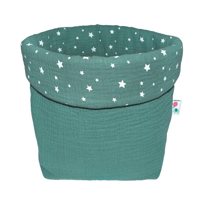 Storage Basket Muslin Jade 19cm