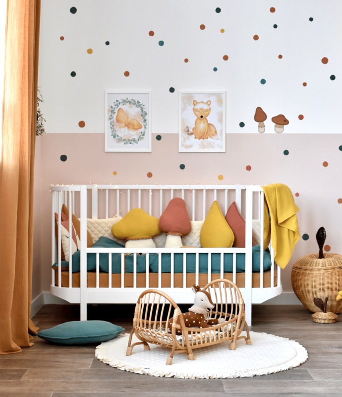 Toddler room with 'forest' textiles & stickers