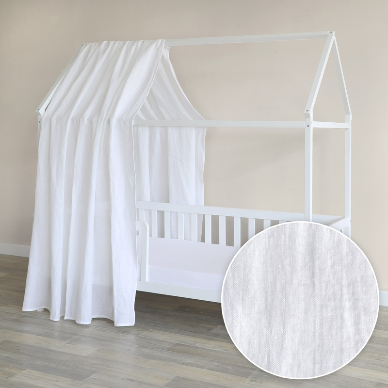 House Bed Canopy Linen White 350cm 1 Piece