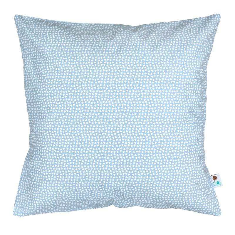 Pillowcase 'Hearts' Blue 40x40cm