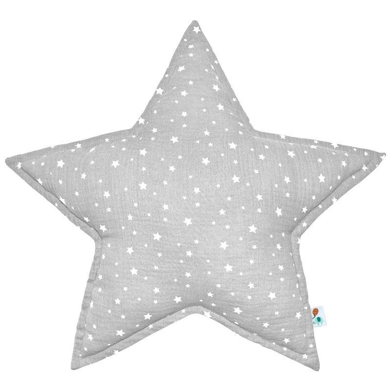 Cushion 'Star' Muslin Light Grey 50cm
