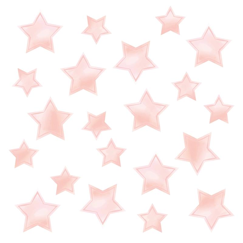 Wall Stickers 'Stars' Watercolour Light Pink