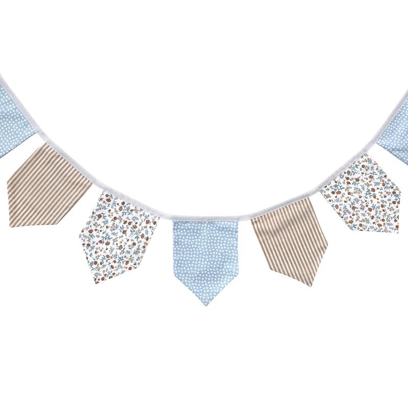 Wimpelkette 'Buttercup' blau 150cm