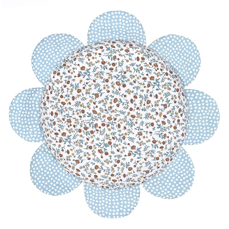 Blumenkissen 'Buttercup' blau 25cm