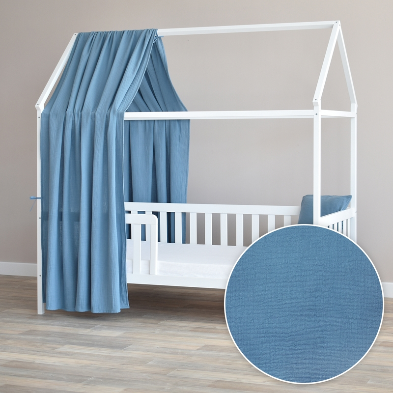 House Bed Canopy Smokey Blue 350cm 1 Piece