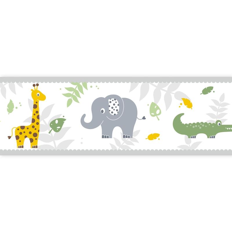 Wall Border 'Safari' Yellow/Green Self-adhesive