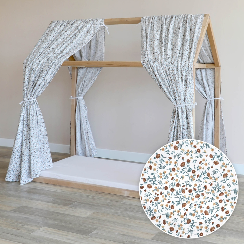 House Bed Canopy 'Buttercup' Blue 315cm