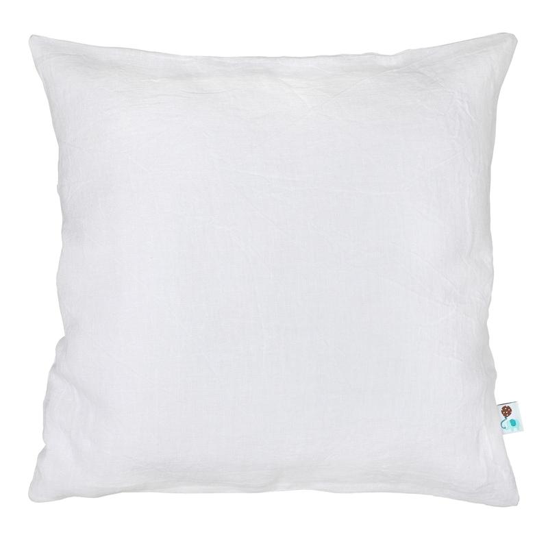 Kissenbezug Leinen weiß handmade