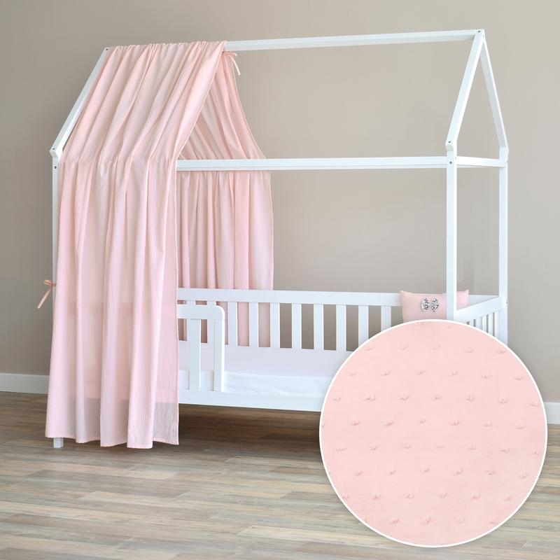 House Bed Canopy 3D Dots Light Pink 350cm 1 Piece