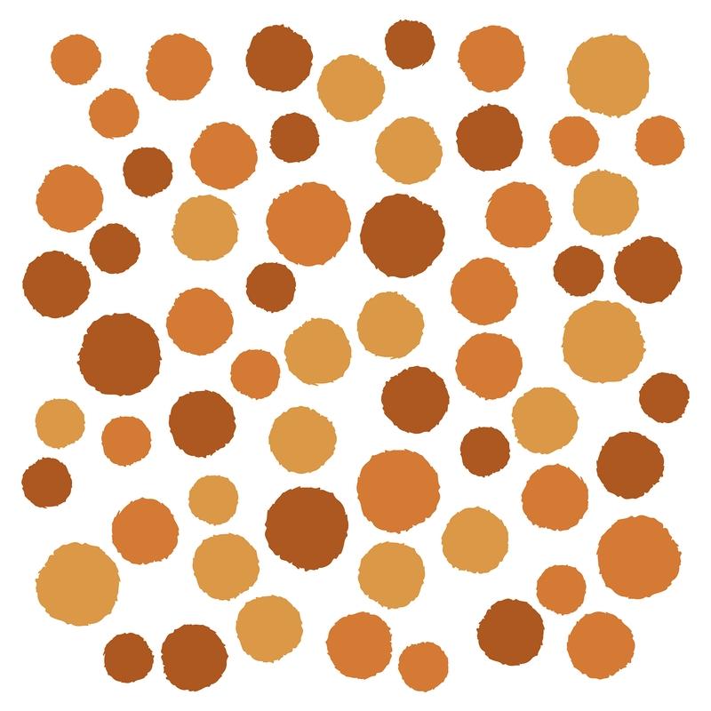 Wall Stickers 'Dots' Camel/Cognac