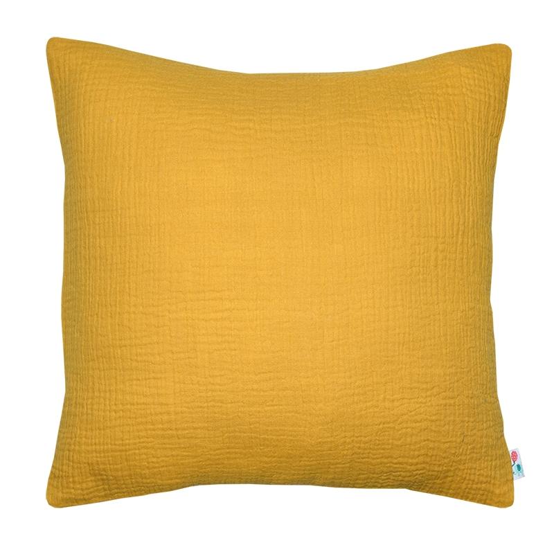 Pillowcase Muslin Mustard Handmade