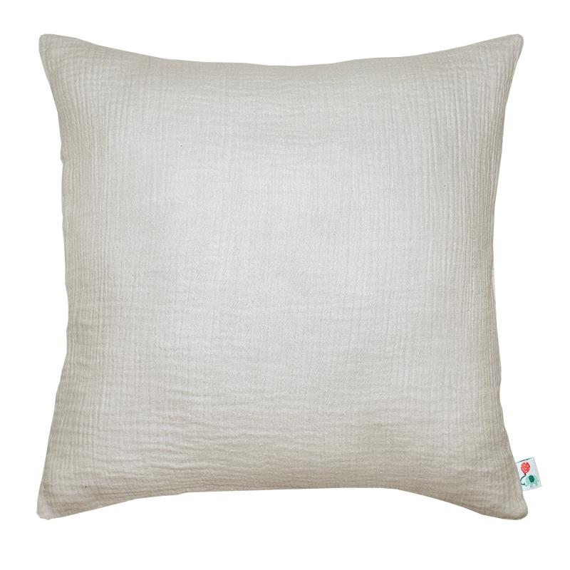 Pillowcase Muslin Light Grey Handmade