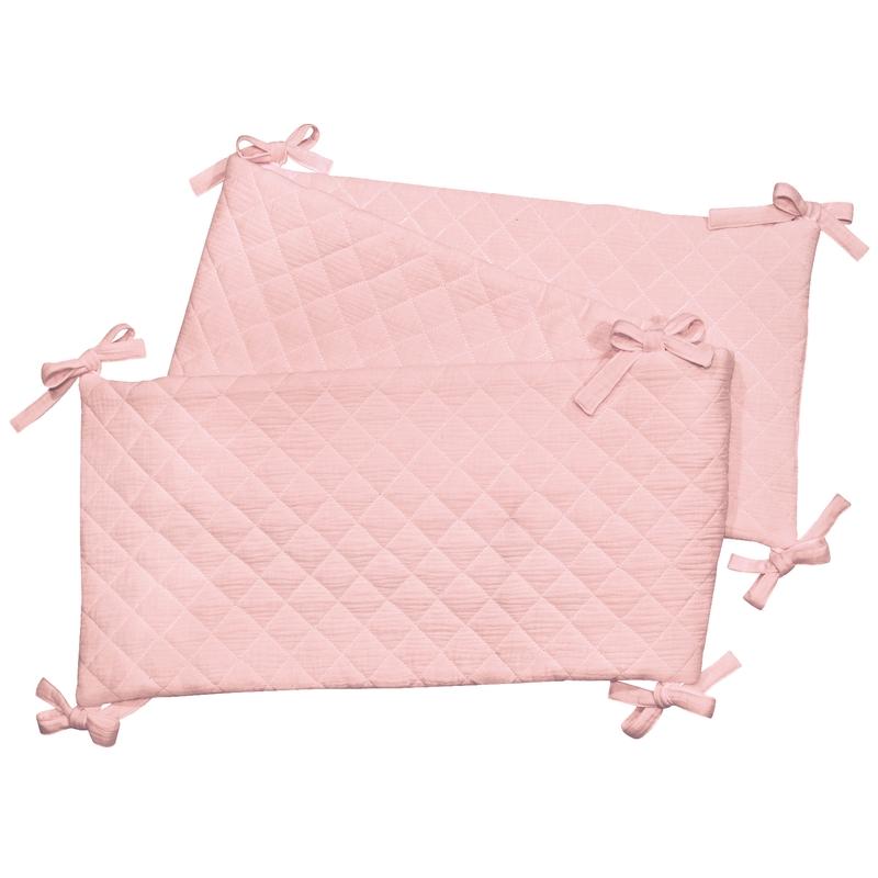 Bumper Muslin Light Pink 210cm Handmade