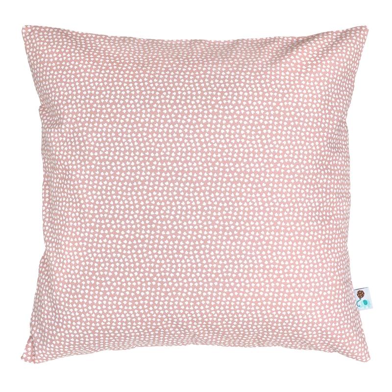 Pillowcase 'Hearts' Pink 40x40cm