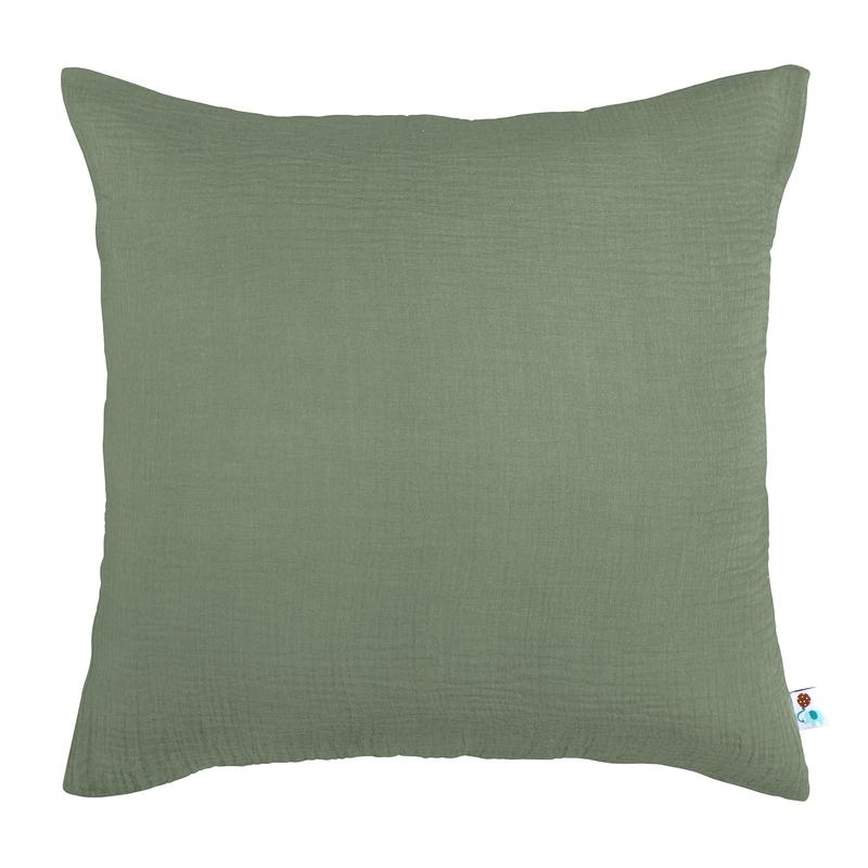 Pillowcase Muslin Khaki 50x50cm