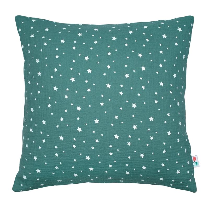 Pillowcase 'Stars' Muslin Jade