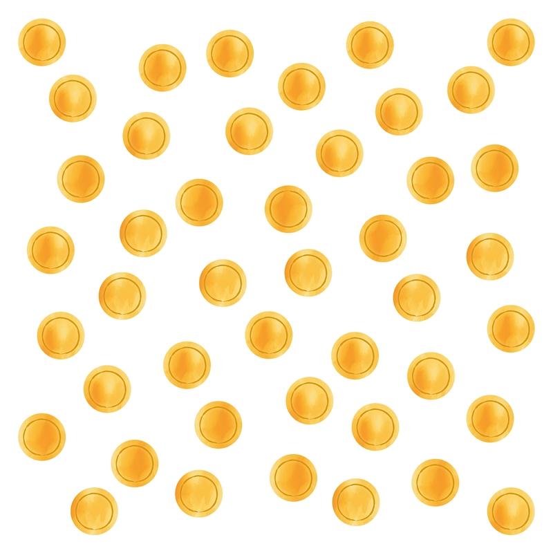 Wall Stickers 'Dots' Watercolour Mustard