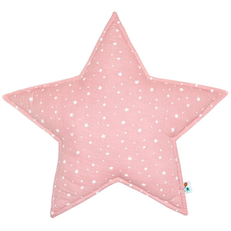 Cushion 'Star' Muslin Light Pink 50cm
