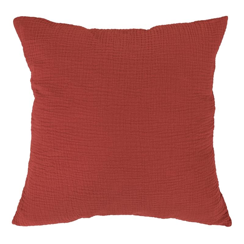 Pillowcase Muslin Rusty Red 40x40cm