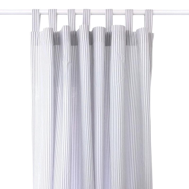 Curtain 'Stripes' Grey/White
