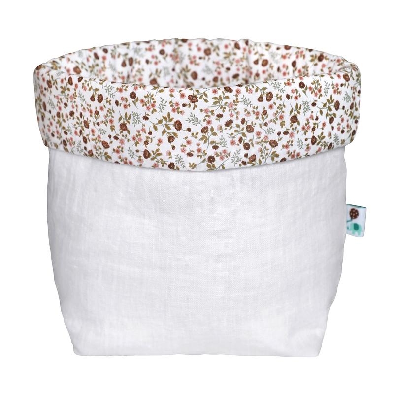Storage Basket 'Buttercup' Linen Dusty Rose