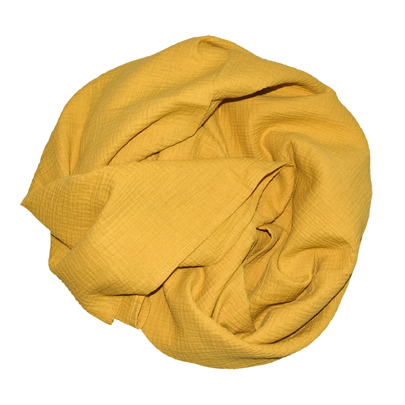 Swaddle Muslin Mustard 120x120