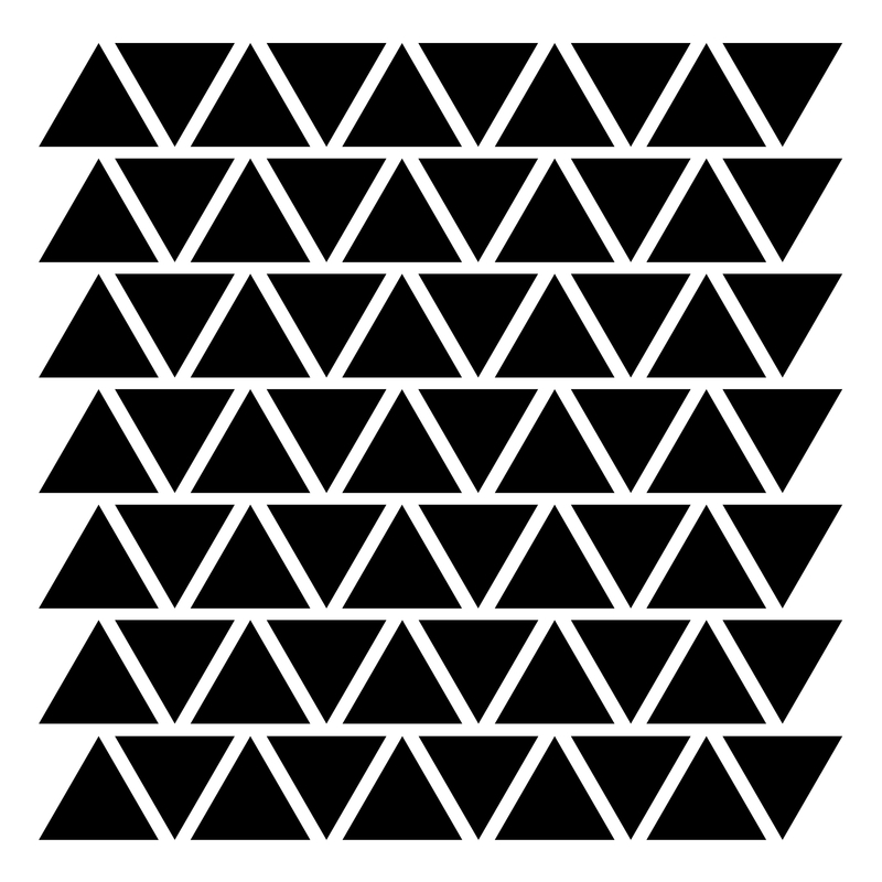Wall Stickers 'Triangles' Black
