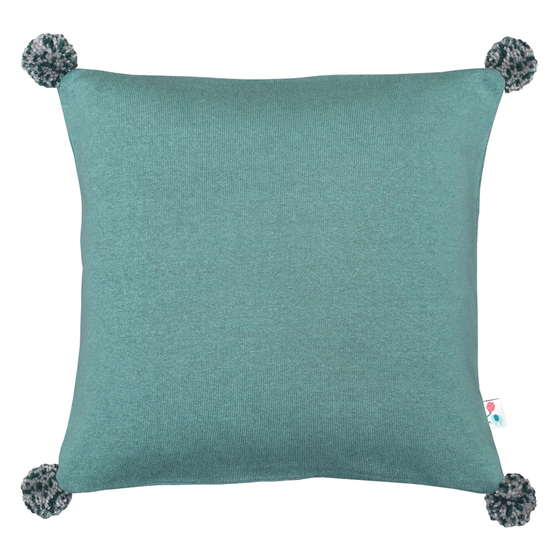 Pillowcase With Pompons Jade 40x40cm