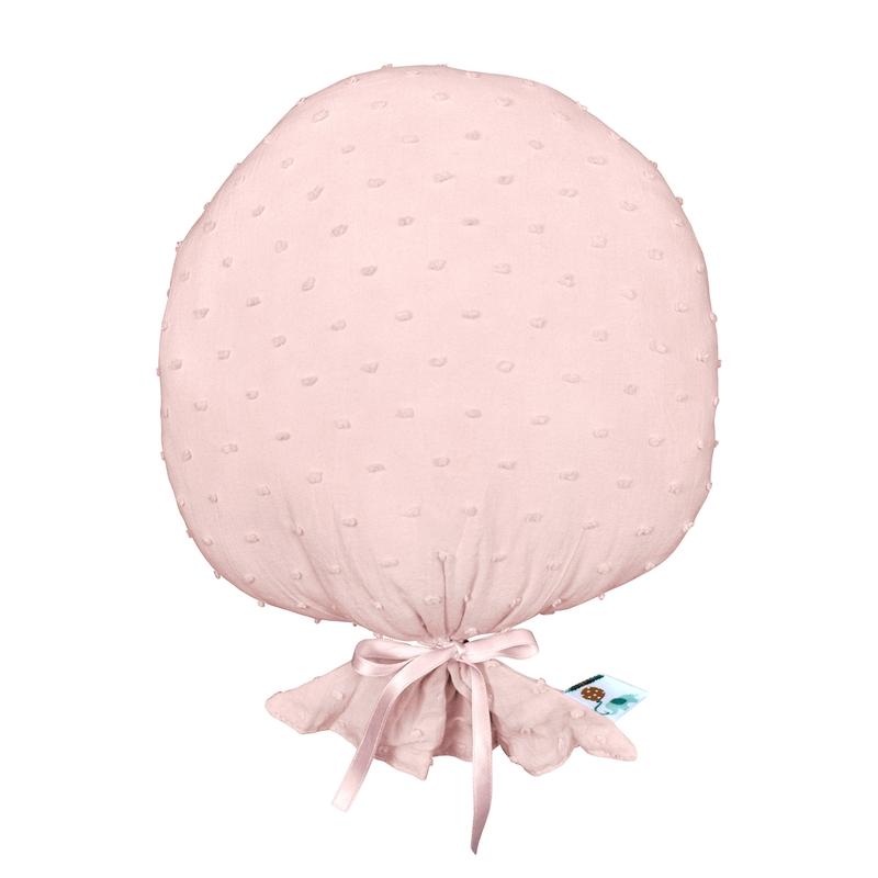 Cushion 'Balloon' 3D Dots Light Pink 27cm