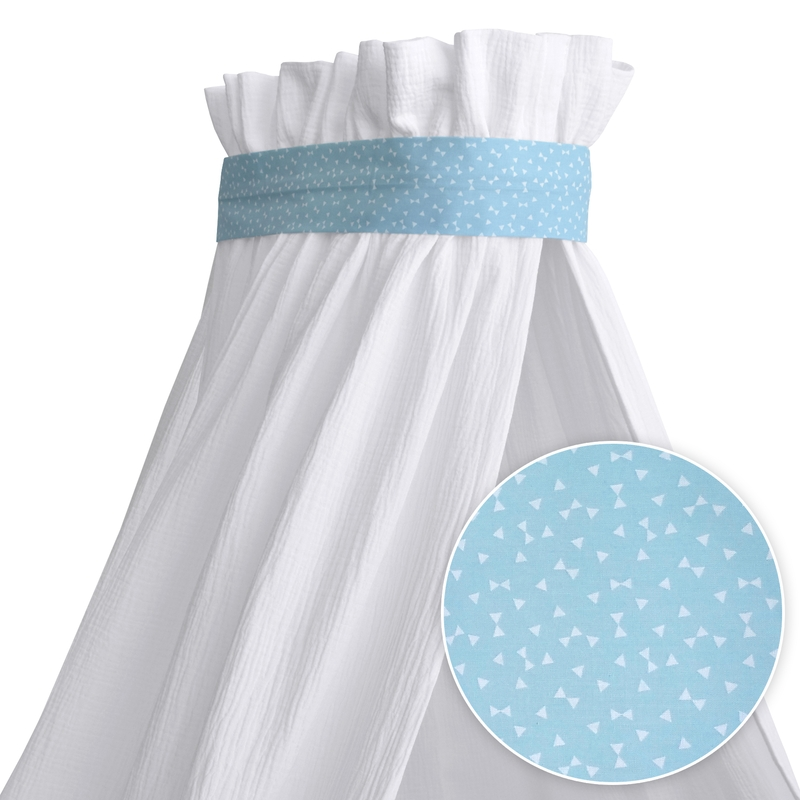 Deco Belt For Baby Canopy Triangles Blue