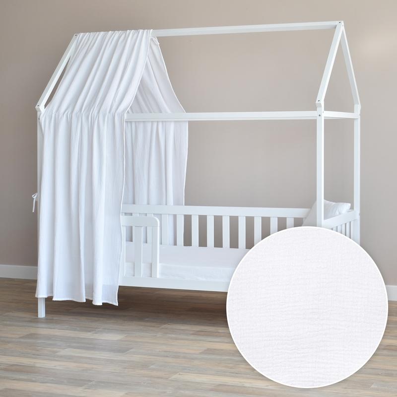 Hausbett-Himmel weiß 350cm 1 Stück