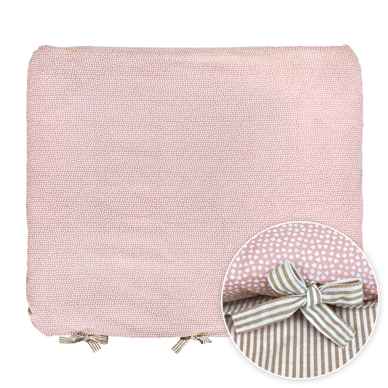 Changing Pad Cover 'Hearts' Pink