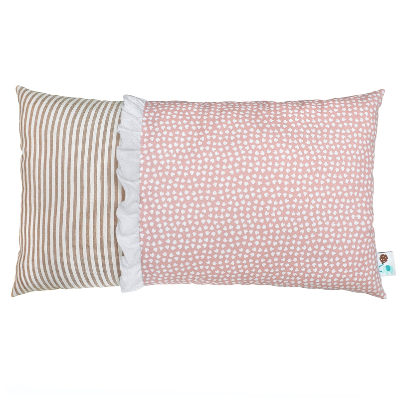 Minikissen 'Herzen' rosa/beige 20x35cm
