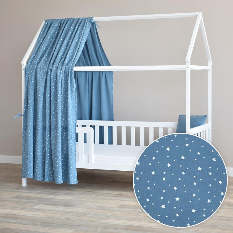 Hausbett-Himmel 'Sterne' rauchblau 350cm 1 Stück