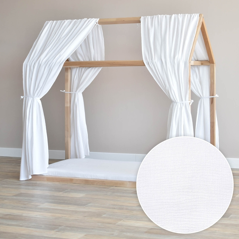 House Bed Canopy Set Of 2 White 315cm