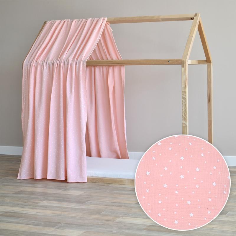 Hausbett-Himmel 'Sterne' puderrosa 315cm 1 Stück