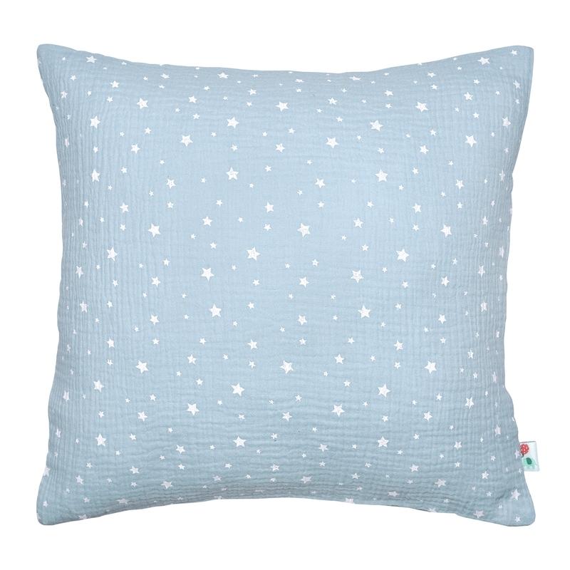Pillowcase 'Stars' Muslin Pastel Blue