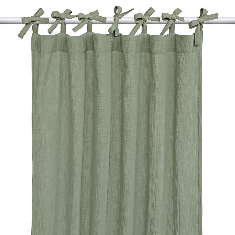 Curtain Muslin Khaki H 220cm Handmade