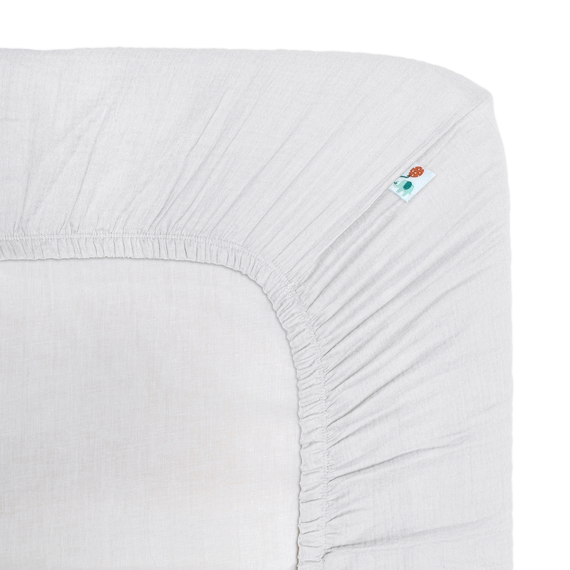Fitted Sheet Muslin White 80x160cm