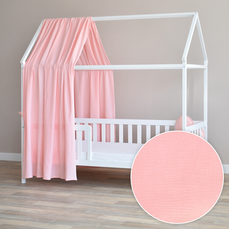 House Bed Canopy Light Pink 350cm 1 Piece