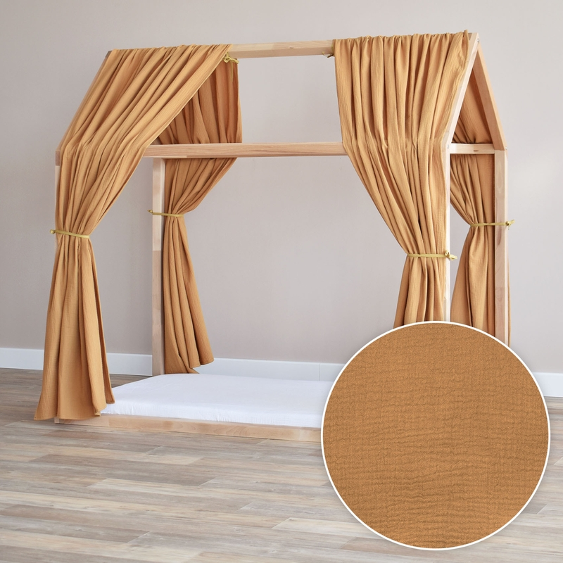 House Bed Canopy Set Of 2 Camel 315cm