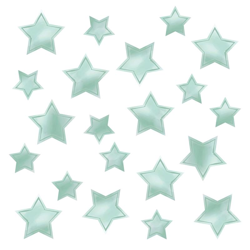 Wall Stickers 'Stars' Watercolour Mint