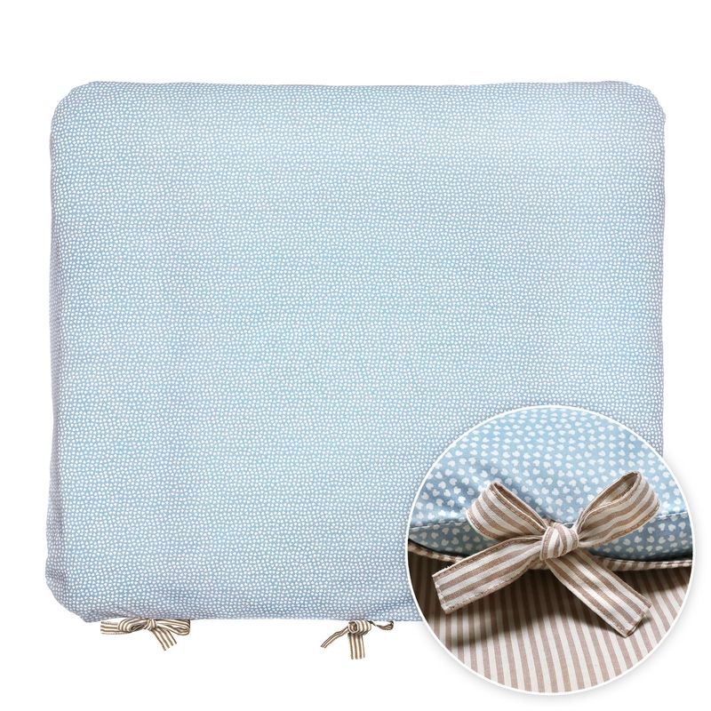 Changing Pad Cover 'Hearts' Blue