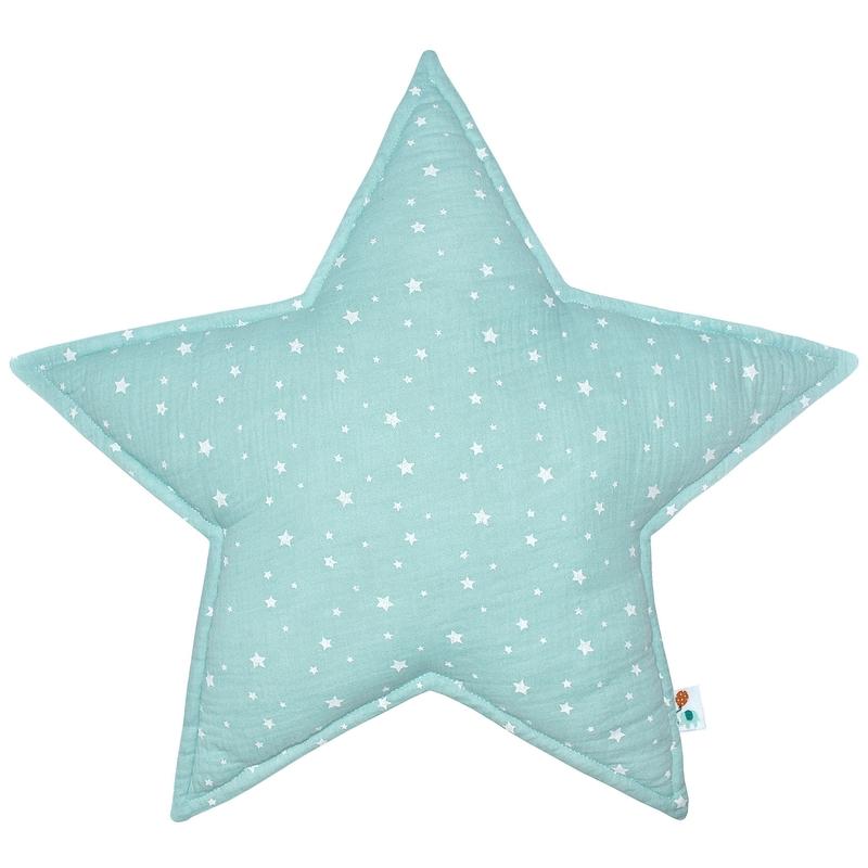 Cushion 'Star' Muslin Mint 50cm